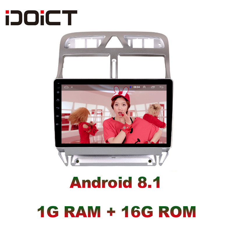 IDOICT <font><b>2din</b></font> Android 8.1 Car DVD Video Player GPS Navigation Multimedia <font><b>For</b></font> <font><b>peugeot</b></font> <font><b>307</b></font> <font><b>Radio</b></font> 2004-2013 bluetooth stereo DSP image