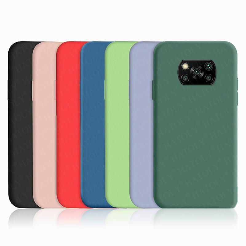 Para Xiaomi Poco X3 Funda para teléfono Poco M2 F2 Pro X2 Silicona líquida TPU suave Funda protectora para parachoques a prueba de golpes en Poco X3 NFC