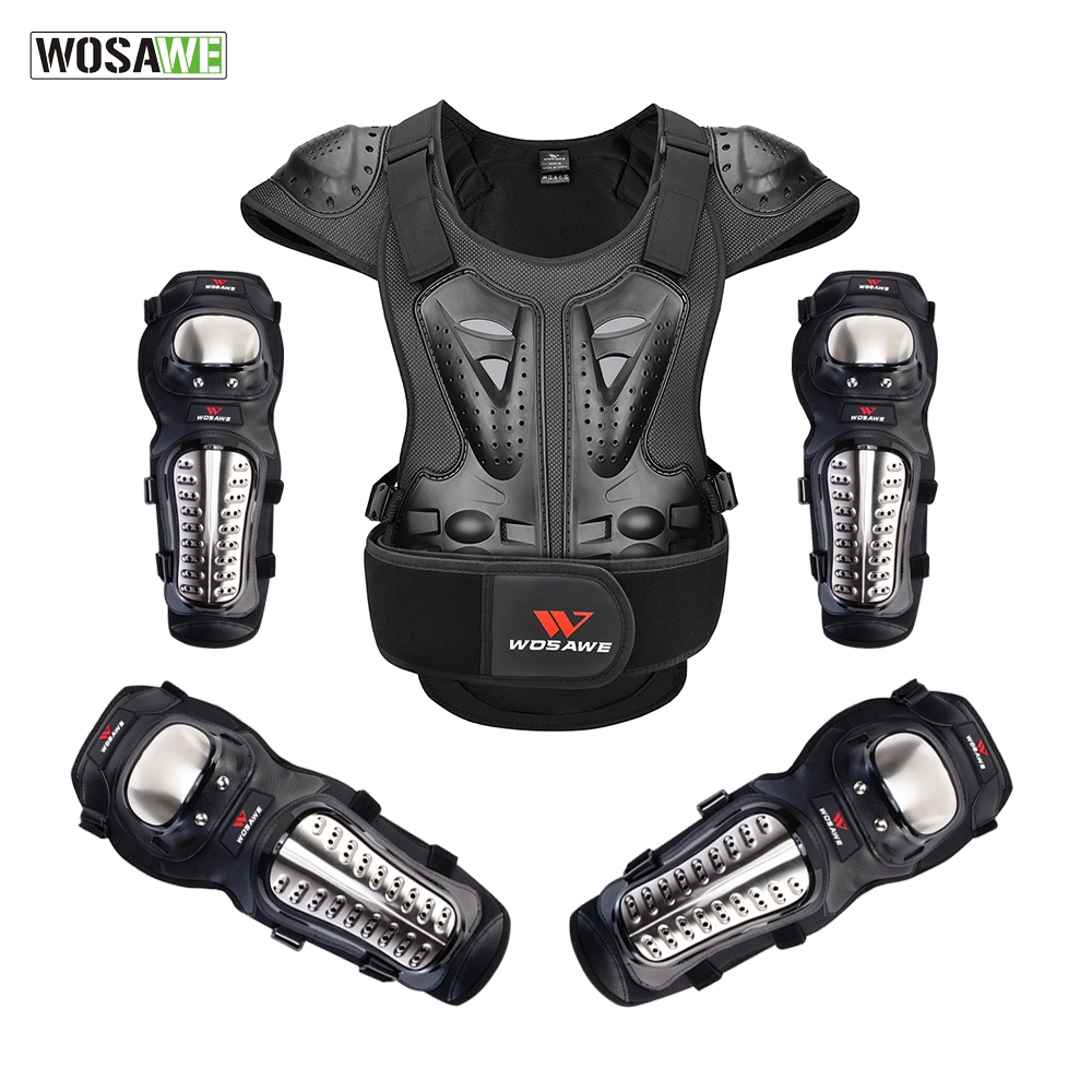 WOSAWE Adult EVA PE Protective Armor Chest Back Shoulder Protective Gear Skiing Skating  Racing Skateboard Safety Vest