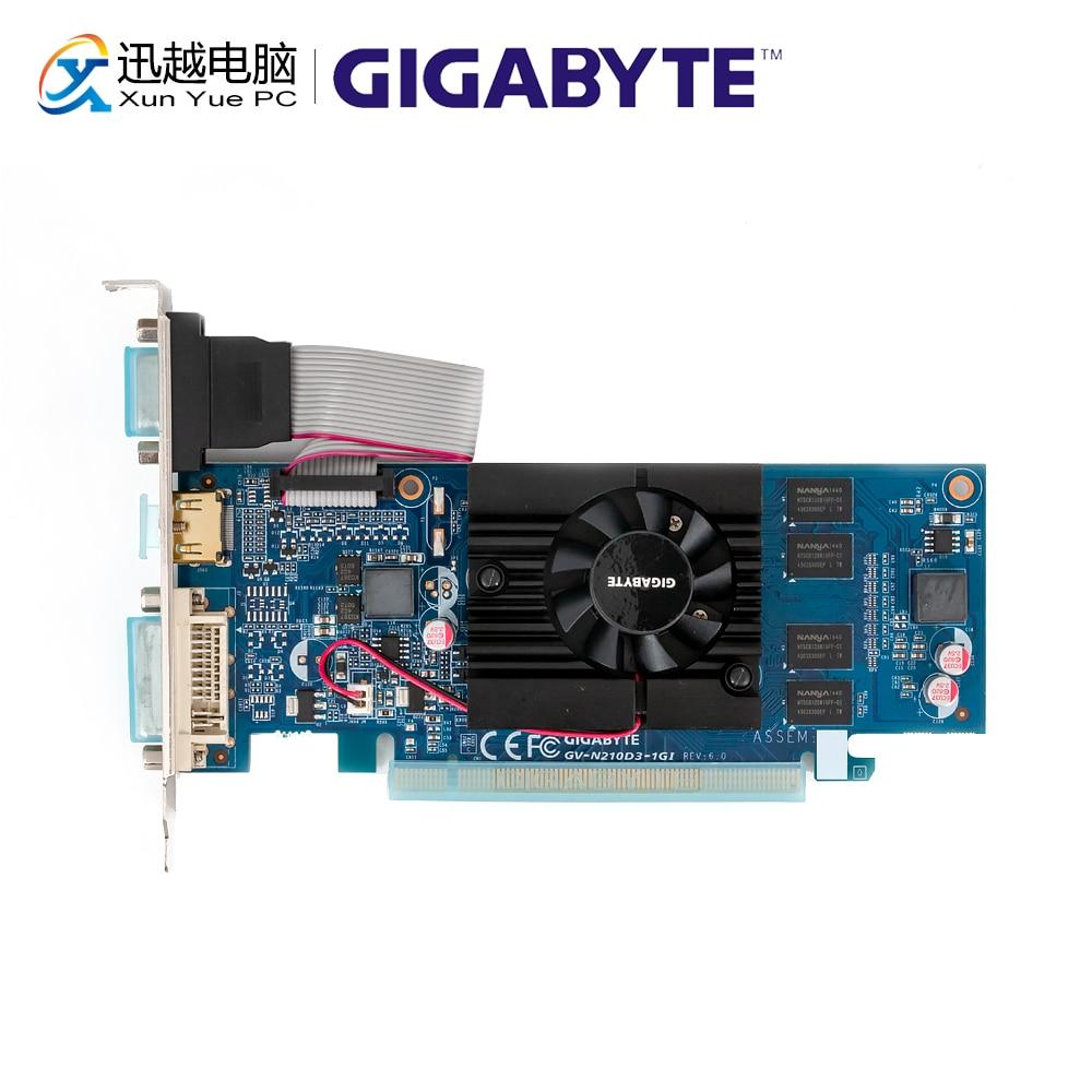 Gigabyte Graphics-Cards GDDR3 G210 Nvidia Geforce VGA Used HDMI 1G DVI GV-N210D3-1GI