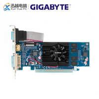 Gigabyte GV-N210D3-1GI cartes graphiques 64 bits G 210 1G GDDR3 HDMI DVI VGA pour Nvidia Geforce G210 Original utilisé carte vidéo