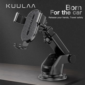 KUULAA Windshield Gravity Sucker Car Phone Holder For iPhone X 11 Pro Holder For Phone In Car Support Smartphone Voiture Stand