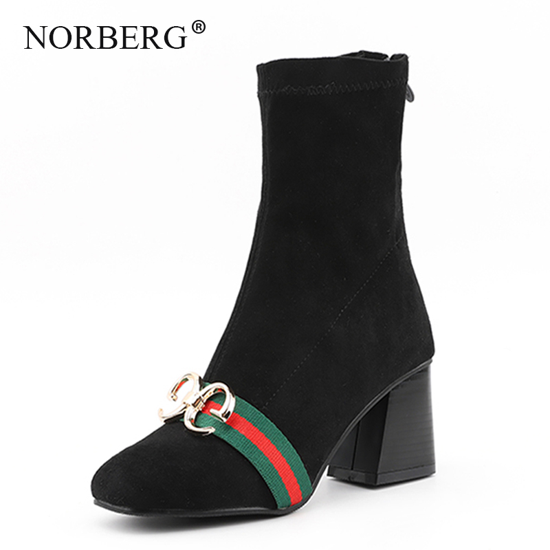 Women Zipper Boots black  High heels Fashion Pointed toe Ladies Sexy shoes