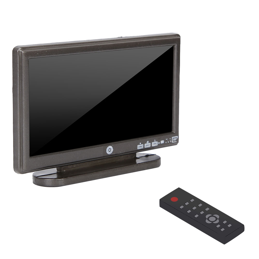 NEW Dollhouse Miniature Plastic black TV Emote Controller set adorable 1:12