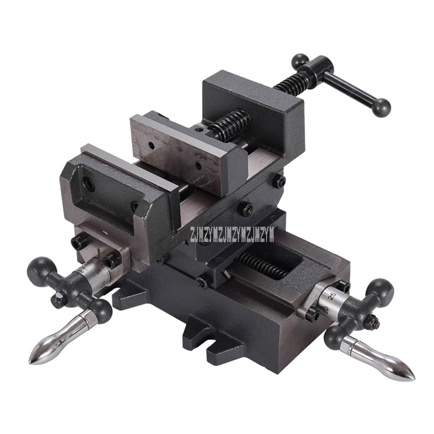3-inch Precision Cross Vise Heavy Duty Vise Two-way Mobile Vise Work Bench Drilling and Milling Machine Special Cross Pliers