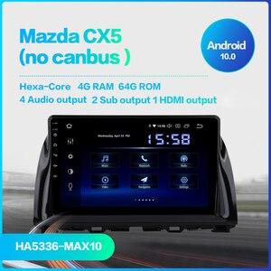 "Image 2 - Dasaita 1 Din Android 10.0 araba navigasyon GPS Mazda CX5 CX 5 2013 2014 2015 DSP 64GB ROM 10.2 ""IPS dokunmatik ekran"
