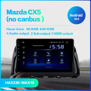 Image 2 - Dasaita navegador GPS para coche Mazda, 1 Din, Android 10,0, CX5, CX 5, 2013, 2014, 2015, DSP, 64GB de ROM, Pantalla táctil IPS de 10,2 pulgadas