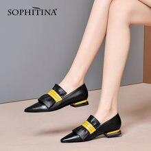 Sophitina/Женская обувь; Элегантные туфли лодочки ручной работы