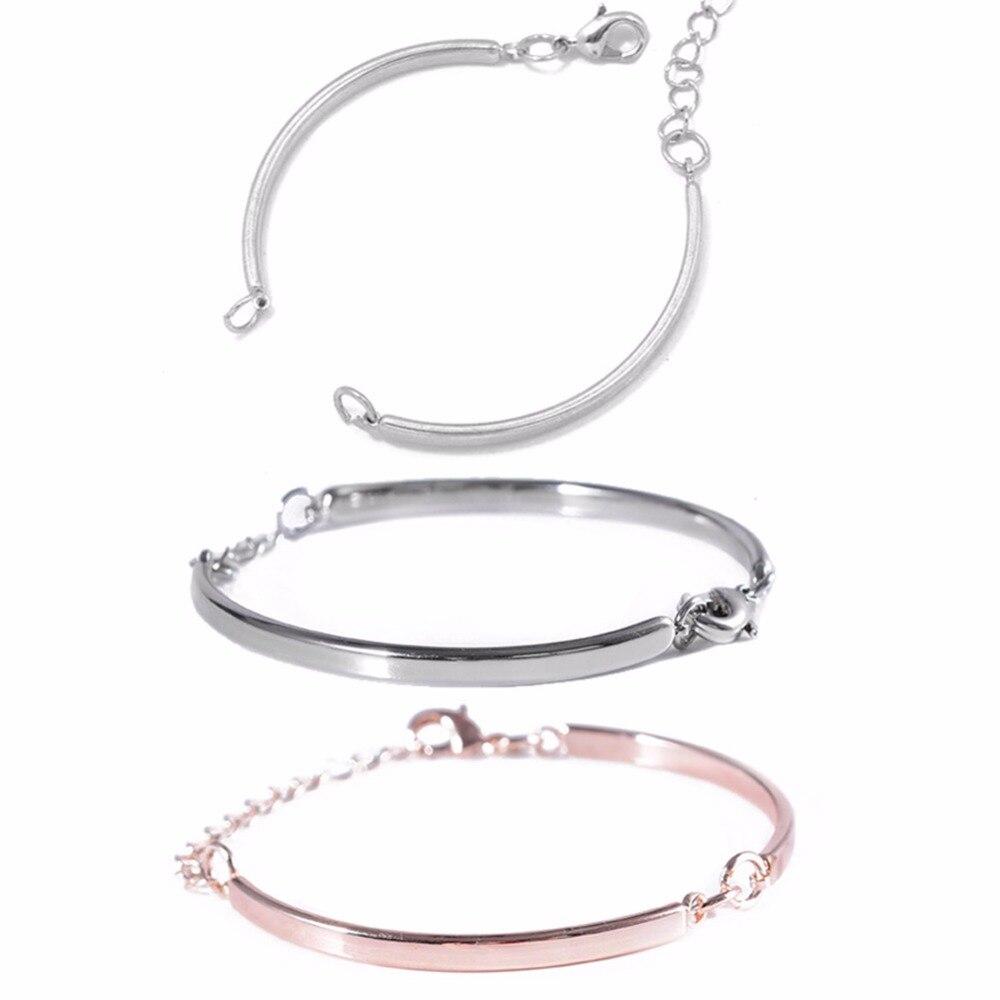 5pc Ajustable connecteur en métal courbé bracelets vierges queue chaîne lien bijoux à bricoler soi-même résultats bracelet à breloques pour les femmes hommes amour