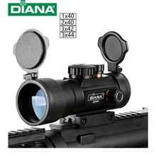 DIANA 3X44 Grün Red Dot Anblick bereich Tactical Optik Zielfernrohr Fit 11/20mm schiene Zielfernrohre für Die Jagd