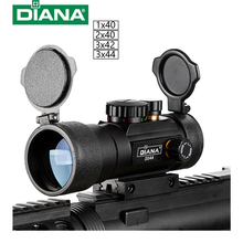 DIANA 3X44 Green Red Dot Sight Scope Tactical Optics Riflescope Fit 11/20mm rail Rifle Scopes for Hunting