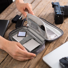 Cables de cargador de USB Digital Gadget Cable bolsa portátil CaseElectronic auriculares organizador de almacenamiento de cremallera bolsa de accesorios suministros