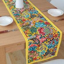 Dunxdeco mesa corredor toalha de algodão chinês flora nacional impressão feriado festa decoração mesa chão tecido