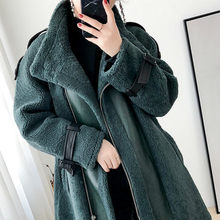 Real Fur Sheep Shearing Winter Coat Motorcycle Wool Jacket Women Clothes 2020 Manteau Femme BGS20269 YY1096(China)