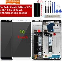 Digitalizador original para xiaomi redmi note 5 pro, display lcd, 10 touch screen, montagem com moldura, para redmi note 5 peças de reparo do lcd