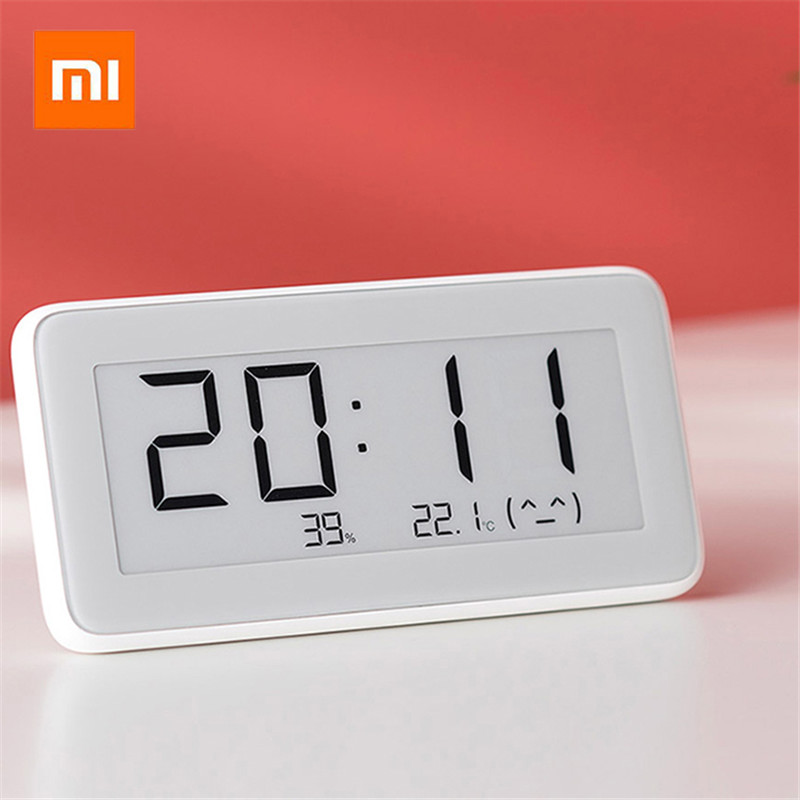 New Xiaomi Mijia Bluetooth Temperature Humidity Sensor E-link LCD Screen Digital Thermometer Moisture Smart Linkage Mi APP