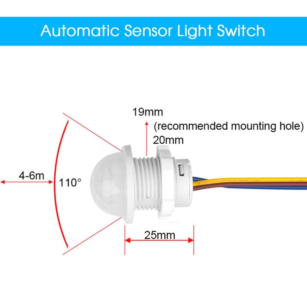Hot Light Switch PIR Sensor Detector Smart Switch LED 110V 220V PIR Infrared Motion Sensor Switch Auto On Off 3