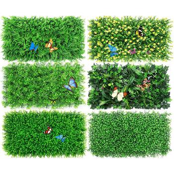 60*40cm sztuczna zielona roślina trawnik DIY dla domu ściana ogrodu krajobrazu zielony plastikowy trawnik drzwi sklep tło obraz trawa tanie i dobre opinie 1 pc Wiszące Z tworzywa sztucznego Grass 60cm*40cm the mall store home wall garden