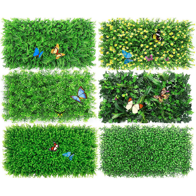 60*40cm Artificial Plant Lawn DIY Background Wall Simulation Grass Leaf Wedding Home Decor Grass Carpet Wall Turf Office
