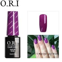 O.R.I 1PCS 12ML UV Gel Nail Polish UV Gel Nail Art Varnish Hybrid Soak Off Gel Lacquer Manicure Gel Polish Semi Permanent Gellak mustela gel lavant doux