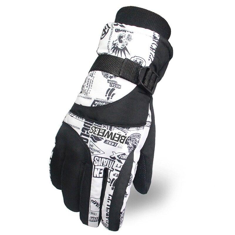 Мужские и женские лыжные перчатки Taslon, водонепроницаемые снегоходные перчатки для катания на лыжах и мотоцикле, теплые рукавицы для катания на сноуборде
