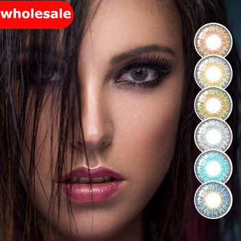 (Wholesale) Colored Contacts/Circle Lenses 2pcs/Pair Contact Lenses For Eyes Non Prescription Color Contact Lens With Free Case