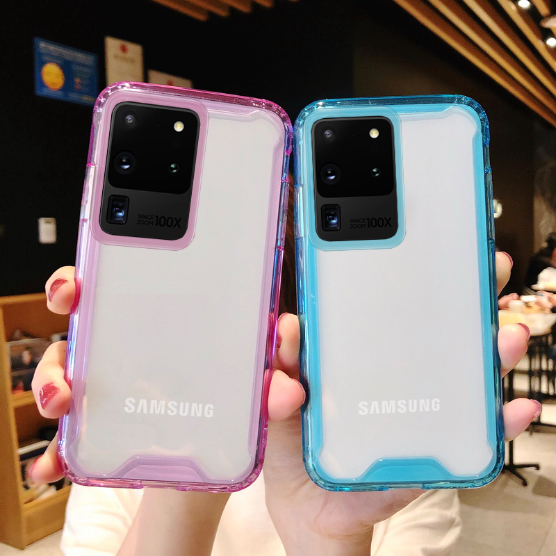 Shockproof Transparent Hybrid Acrylic Case For Samsung Galaxy S20 Ultra A51 A71 A50 A70 Note 10 S10 S9 S8 Plus Clear Back Cover
