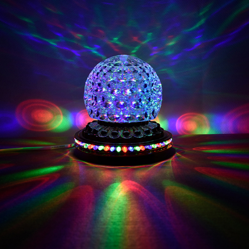 Mini Rotating Colorful LED Stage Light Home Christmas Ktv Party DJ Disco Effect Crystal Magic Ball Strobe Lighting Laser Dj 3d