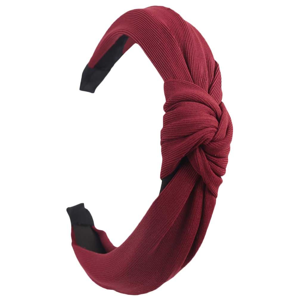 Couleur unie noeud bandeaux pour femmes Simple tissu filles bandeau femmes cheveux accessoires large côté bandeau 17