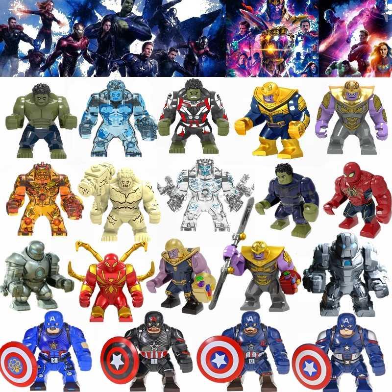 Legoing Thanos Maravilha Spider Man Super Heroes Avengers Batman Homem De Ferro Hulk Filme Big Figuras Brinquedos Para Crianças Blocos de Legoings