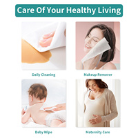 Winner Cotton Tissue Clean Face Makeup Wipes Wet Dry Dual Use Disposable Gentle Face Towelettes for Sensitive Skin Baby Wipes 4