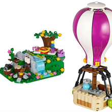 Toys Bricks Hot-Air-Balloon Building-Blocks Friends with Girl Heartlake DIY Gift 41097