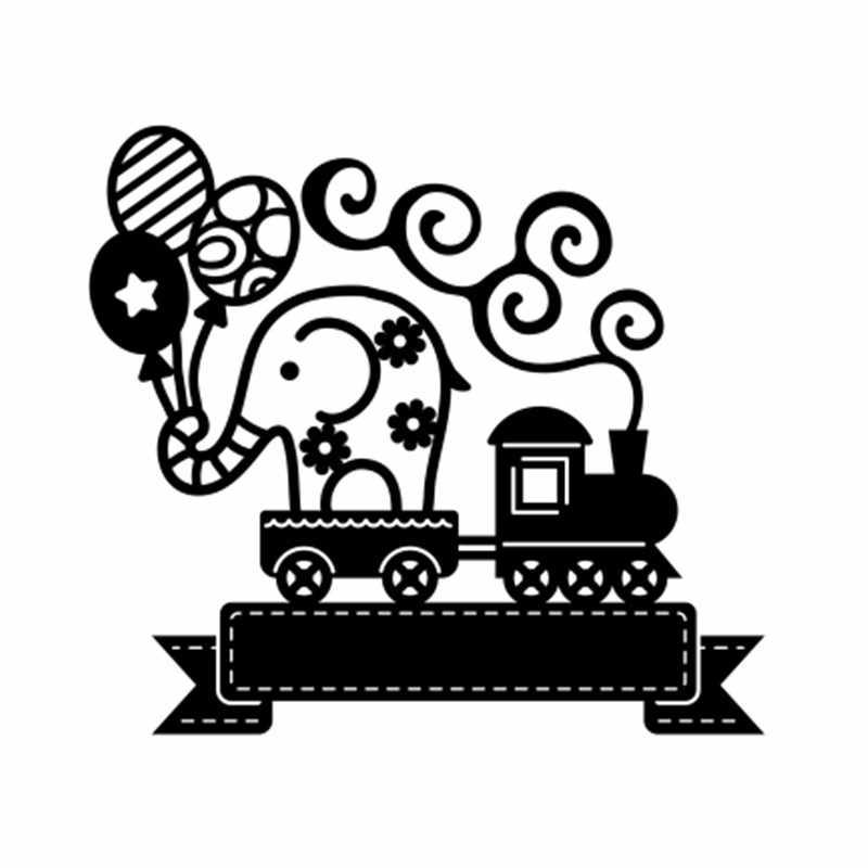 Kokorosa แบนเนอร์ตายช้างบนรถไฟตัดโลหะตาย Stencils DIY Scrapbooking ตกแต่งลายนูน Handcraft DIE CUT