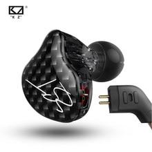 KZ ZST – écouteurs dynamiques à double pilote, avec câble détachable, moniteurs, isolation du bruit, musique HiFi, sport, 1DD + 1BA