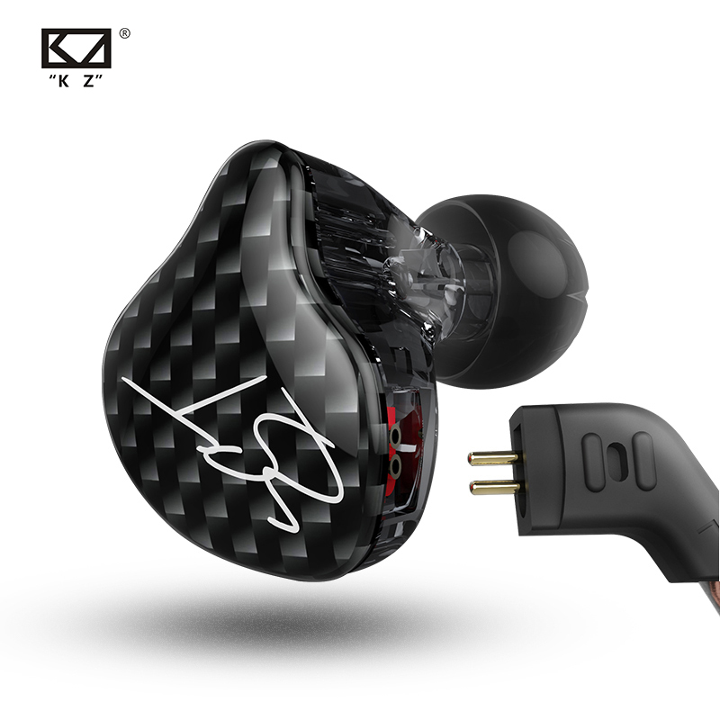 KZ ZST Dual Driver Earphone Dynamic And Armature Detachable Cable Monitors Noise Isolating HiFi Music Sports Earbuds 1DD 1BA