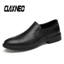 CLAXNEO Man Dress Shoes luxury brand Autumn Male Crocodile Formal Shoe Slipon Mens Wedding Footwear Artificial
