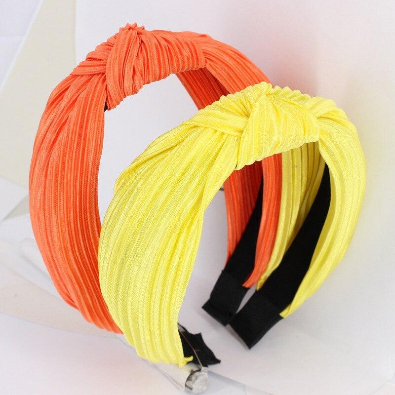 Bandas de Cabeça Lote Faça Você Mesmo Simples Tecidos Multi Deformação Tie Knot Ampla Headbands Pura Colore Ferramentas Hair Styling Acessório Ha1282 36 Pçs –