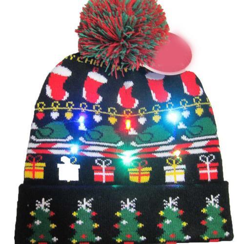 Г., 43 дизайна, светодиодный Рождественский головной убор, Шапка-бини, Рождественский Санта-светильник, вязаная шапка для детей и взрослых, для рождественской вечеринки - Цвет: 20