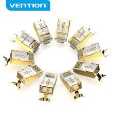 Vention – connecteur Cat8 RJ45, 8P8C, connecteur de câble Ethernet modulaire, Cat8 FTP plaqué or, à sertir, pour réseau