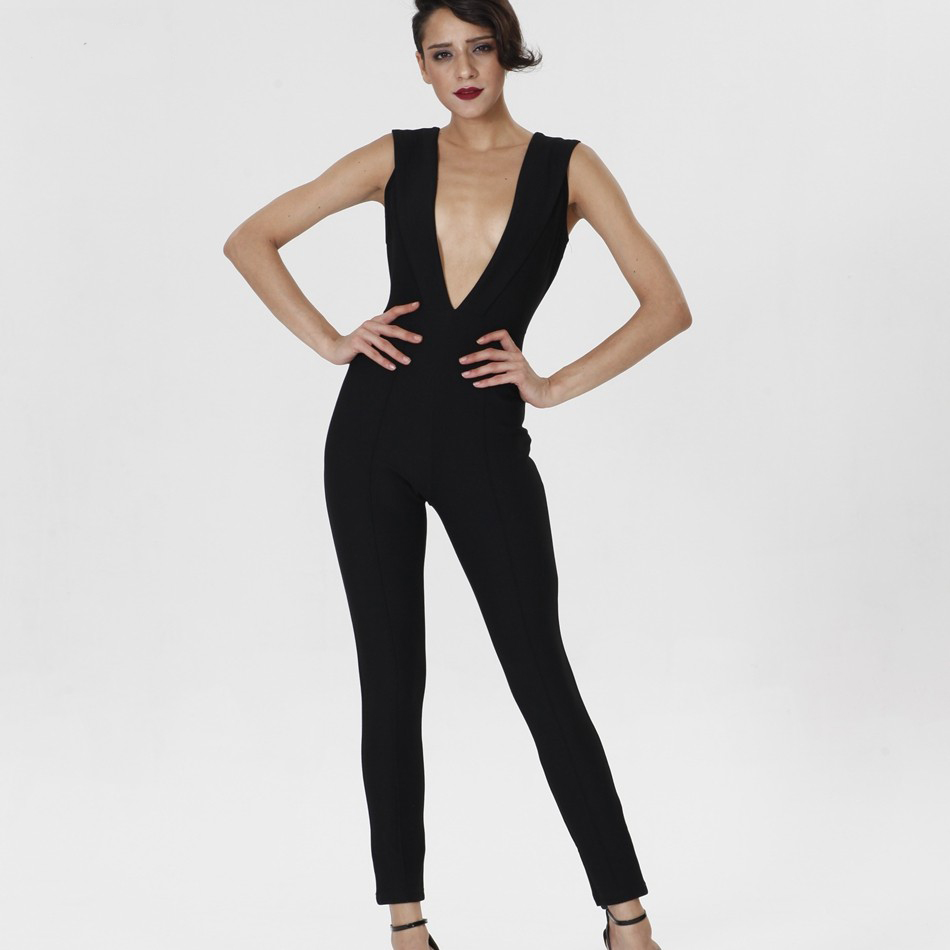 Up To 90%Off Big Sale!!!Ocstrade 10th Anniversay Shopping Festival!2020 Summer High Quality Women Sexy Black Bandage Jumpsuit