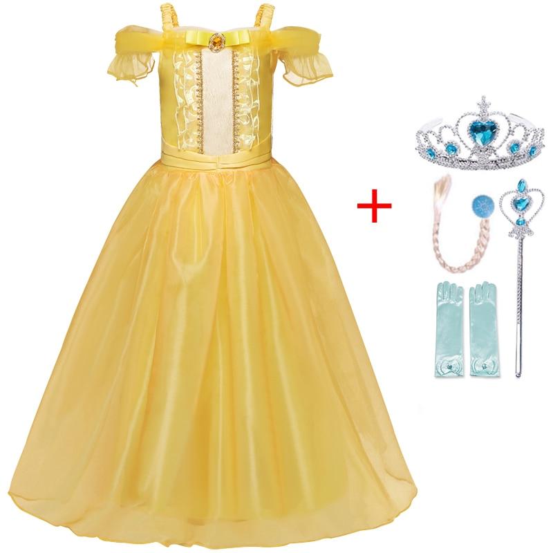 Autumn Winter Elsa Dress Girls Clothes Halloween Party Dress up Chidlren Clothing Christmas Kids Dresses for Girls Size 4-10Yrs 6