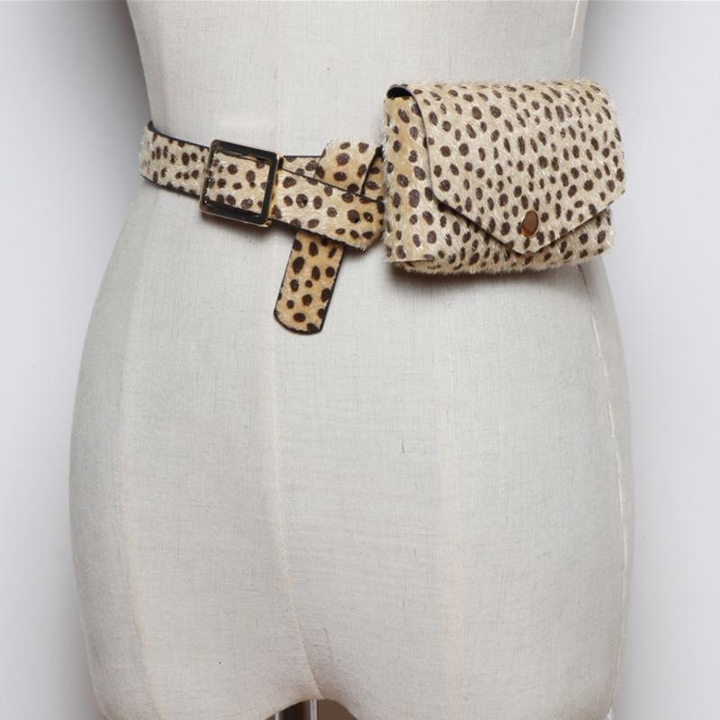 2020 Hot Sale New Design Waist Bag For Women Leopard Dot Print Imitation Mohair Belt Bag Female Casual Fashion Trendy Bags ZK173