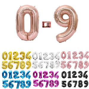 16 32 40 Inch Silver Gold Foil Number Balloons Digital Globos Birthday Wedding Party Decorations Ballons Baby Shower Supplies(China)