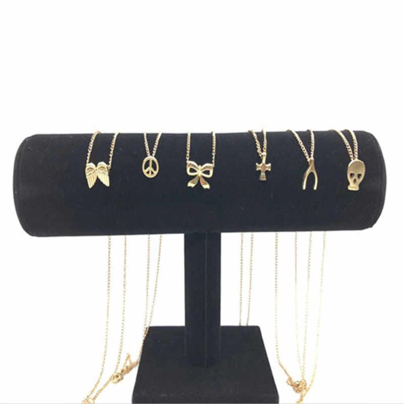 2019 nowa osobowość krzyż Metal Hip hop długi łańcuch fajny prosty naszyjnik dla kobiet mężczyzn biżuteria prezenty naszyjnik złoty naszyjnik