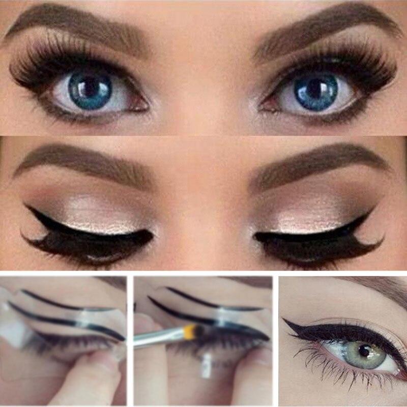 10pcs  Eyeliner Stencils Winged Eyeliner Stencil Models  Shaping Tools Eyebrows Template Card Reusable  Eye Shadow Makeup Tools