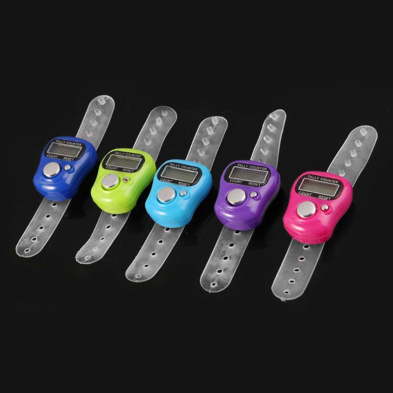 Мини стежка маркер и ряд Палец счетчик ЖК электронный цифровой счетчик для шитья Вязание инструмент для плетения Палец счетчик