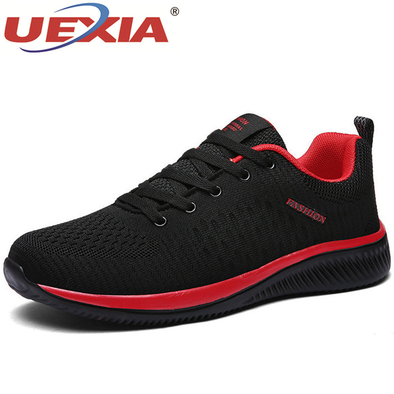 UEXIA Fashion Mesh <font><b>Men</b></font> Casual <font><b>Shoes</b></font> Lac-up Lightweight Outdoor Comfortable Breathable Walking <font><b>Sneakers</b></font> Tenis Feminino Zapatos image