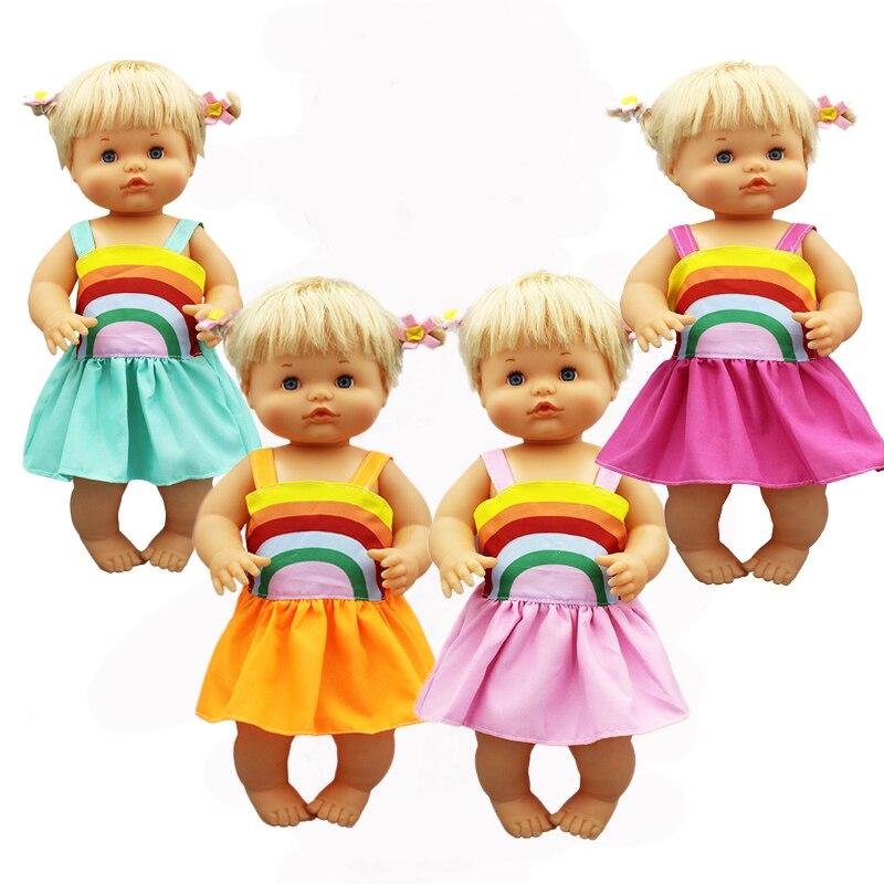 Rain Colorful Dress Fit 42cm Nenuco Doll Nenuco y su Hermanita Doll Accessories
