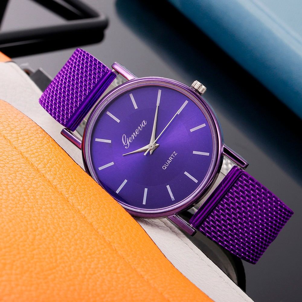 Hot Selling Geneva Women's Casual Silicone Strap Quartz Watch Top Brand Girls Bracelet Clock WristWatch Women Relogio Feminino@F