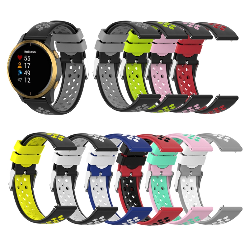 JKER 18 20 22mm Silicone Wrist Band Strap For Garmin Venu Watch Strap For Garmin Vivoactive 4S Vivoactive 4 Smart Watchband